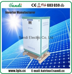 Single phase 20kw power inverter support solar power & main power input