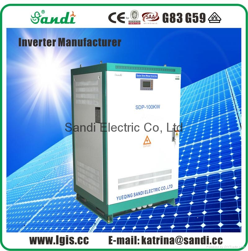 100KW Off Grid Solar Inverter with Three-phase 415VAC