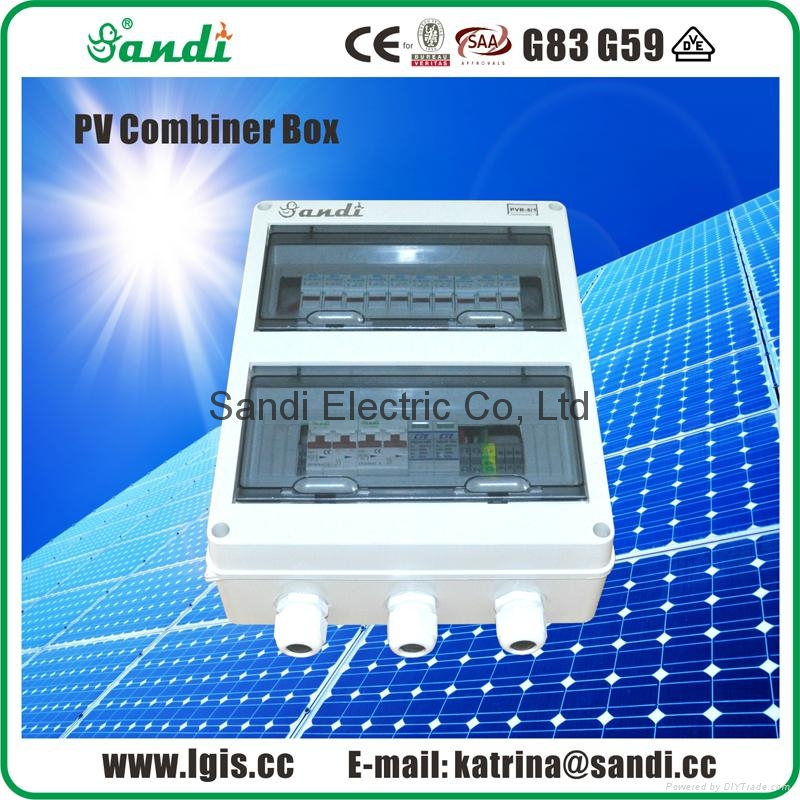PV Solar Combiner box with lightning protection SPD