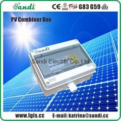 经济型太阳能发电系统专用光伏防雷汇流箱2进1出