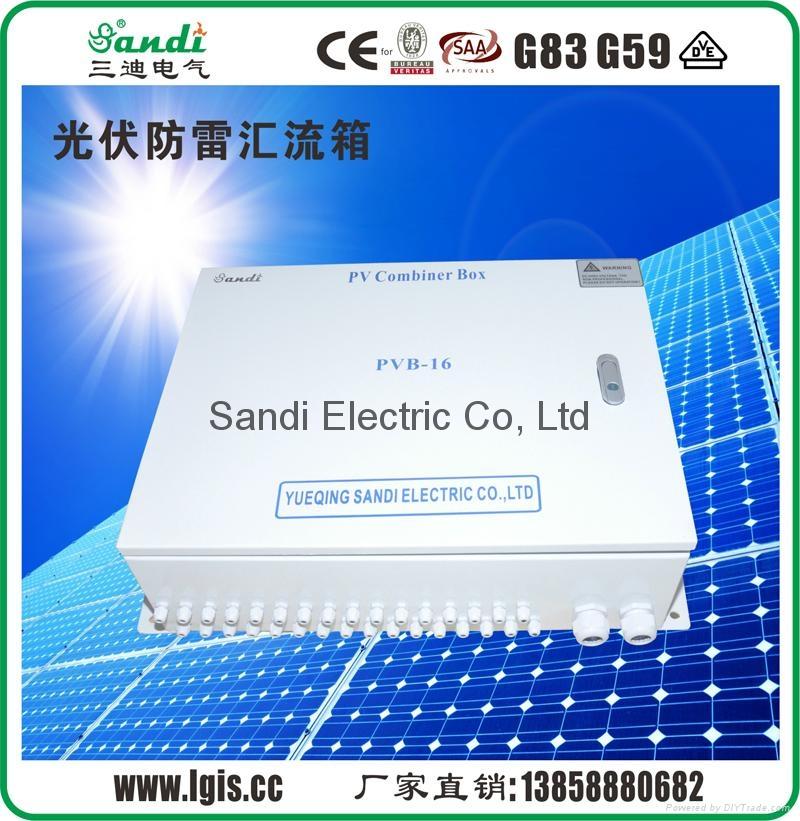 光伏汇流箱主要作用就是对光伏电池阵列的输入进行一级汇流,用于减少光电池阵列接入到逆变器的连线,优化系统结构