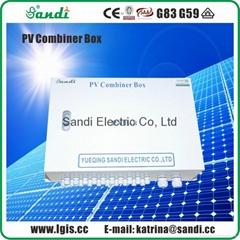 光伏防雷匯流箱用於減少太陽能光伏陣列之間的連線