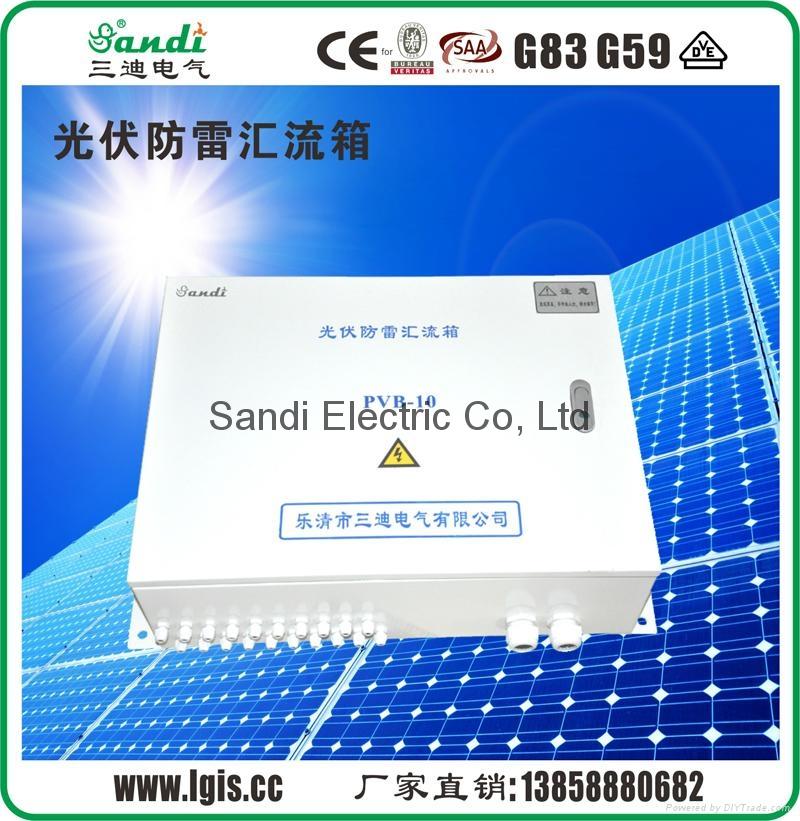 Solar panel circuit solar combiner box