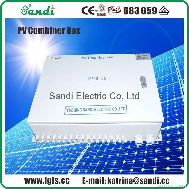 光伏匯流箱直流配電箱匯流箱太陽能光伏發電系統光伏匯流箱防雷