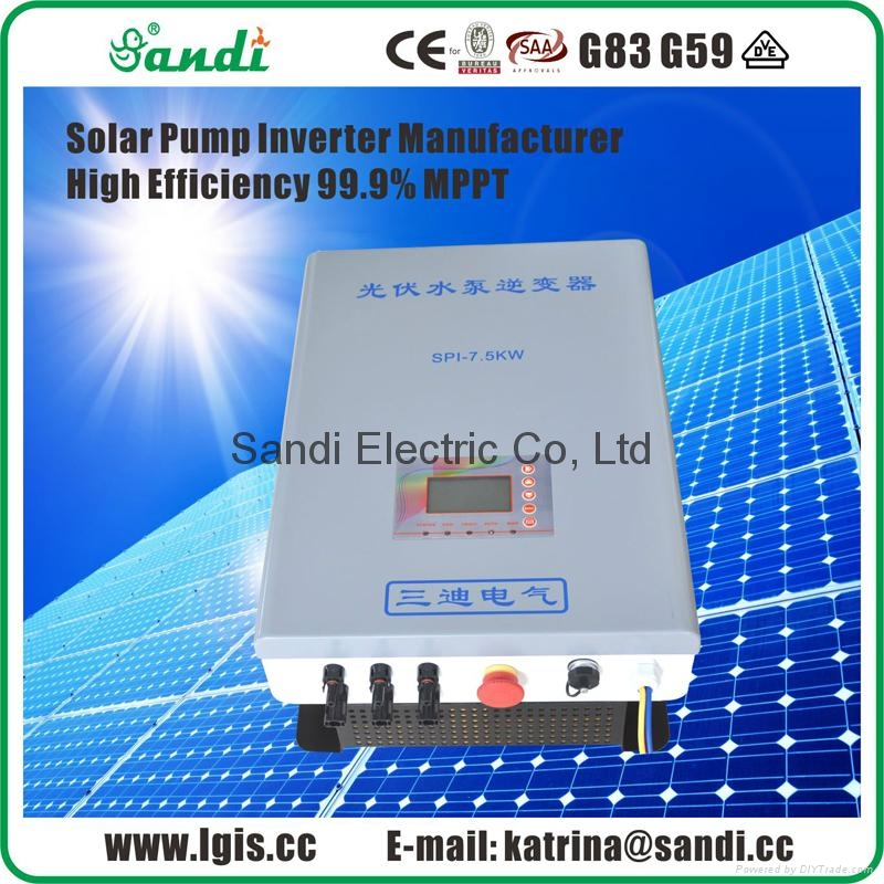 22KW Solar pump inverter for submersible pump without batteries