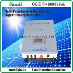 3700W solar pump controller with MPPT +VFD technology