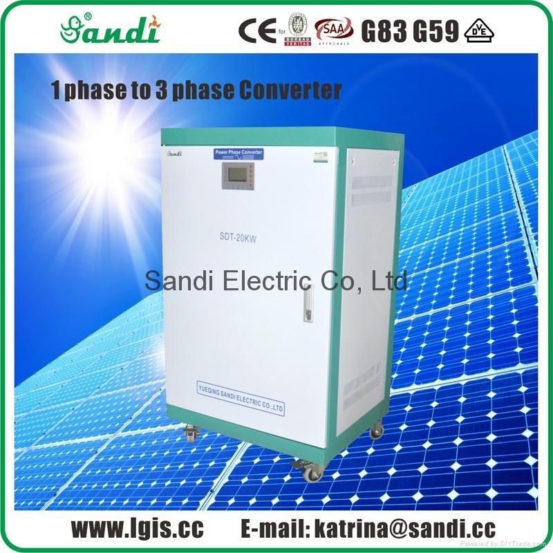 Single Phase Power : Phase converter single power to output