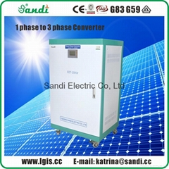 Phase converter single phase power to 3 phase power output