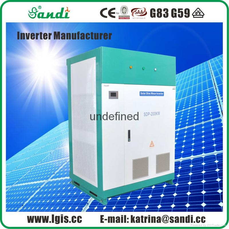 SANDI off grid inverter 3 phase 200kw solar off grid inverter 3