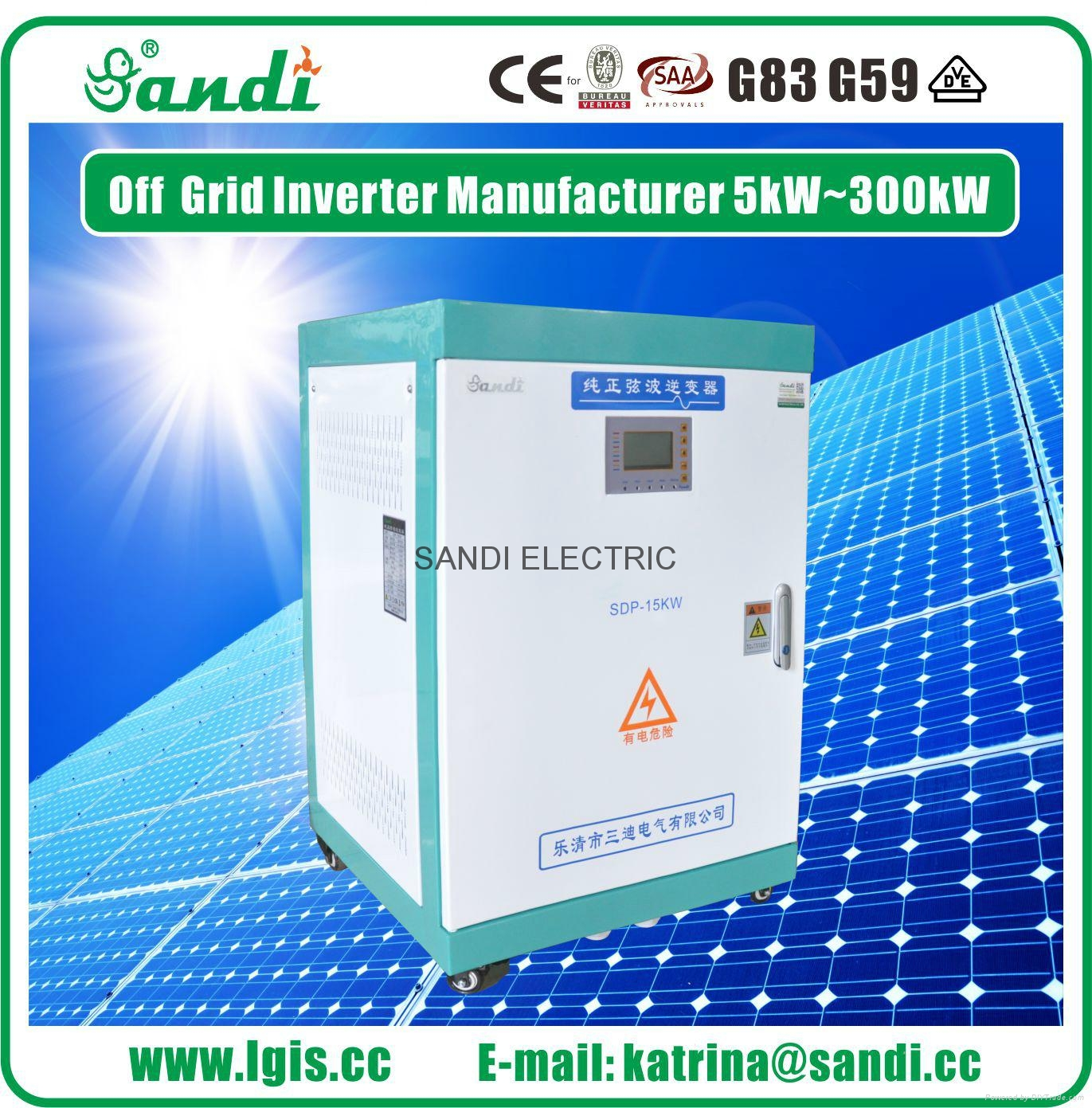 Split Phase Inverter 15kw Off Grid Solar Inverter from SANDI