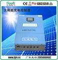 solar voltage regulator with LCD