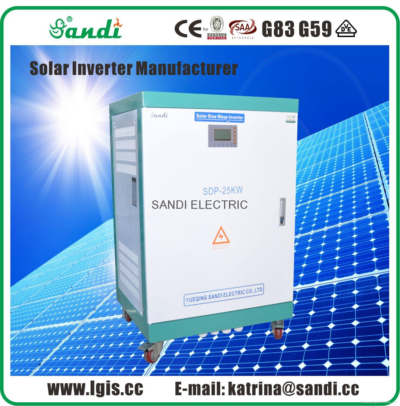 off grid single phase solar power inverter 25kw