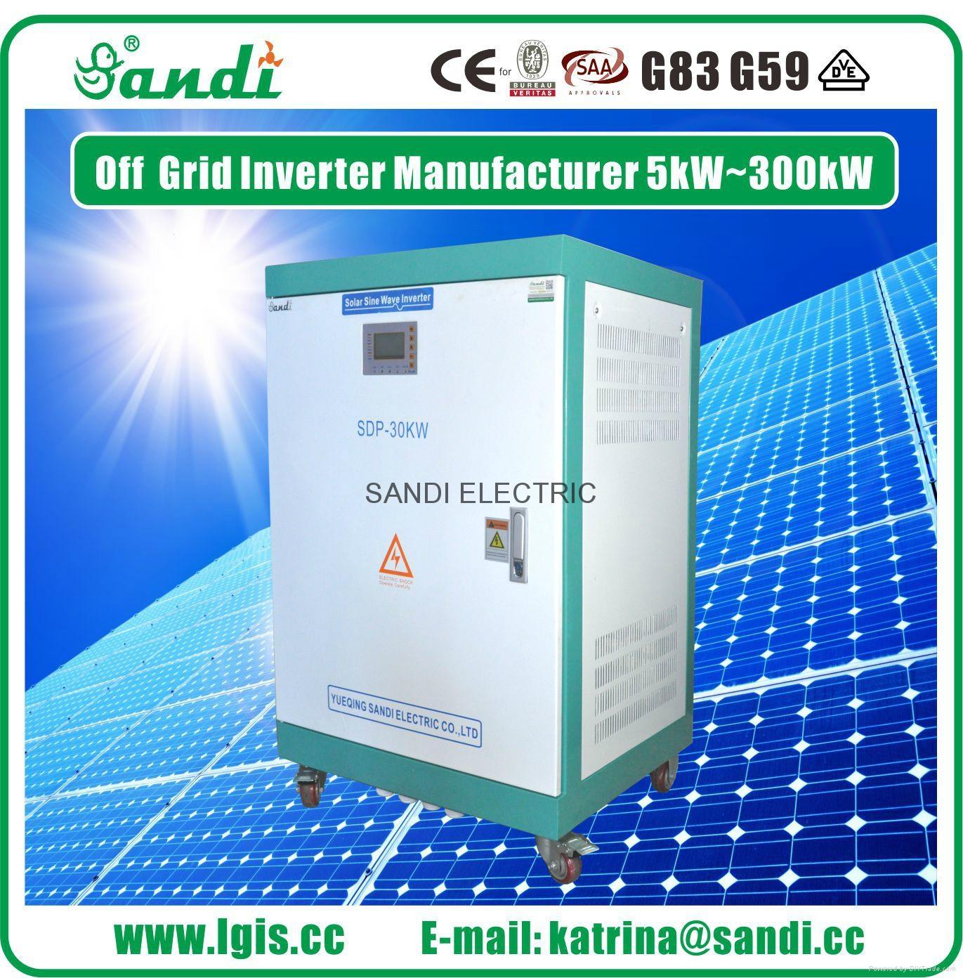off grid three phase solar inverter 30KW