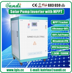 45KW three phase 380V solar pumping inverter with wide MPPT 450~850VDC