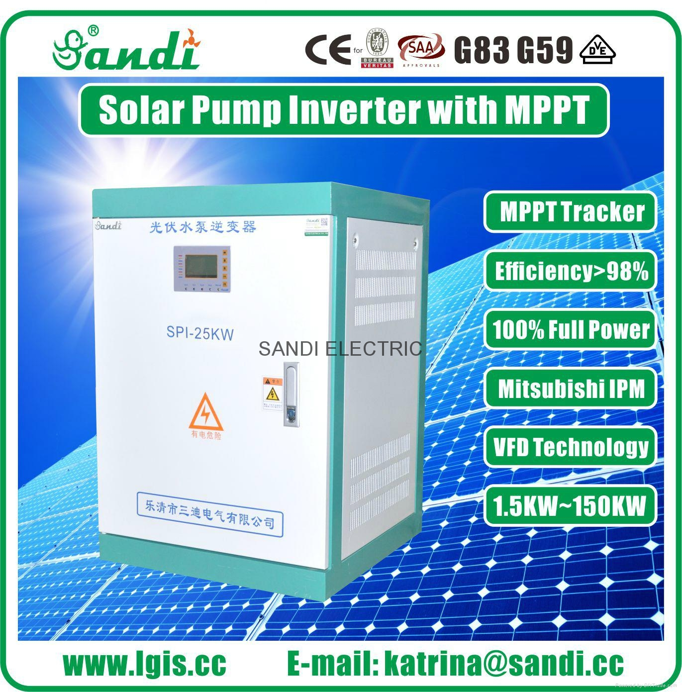 SPI-25KW Solar Water Pump Inverter Variable Frequency Drive Solar Inverter 25kW