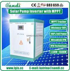 25KW太阳能光伏提水抽水系统 太阳能光伏发电水泵系统逆变器