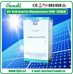 Wide voltage range (500V-850VDC) DC to AC Solar/Wind Off-grid Inverter 5KW-250KW