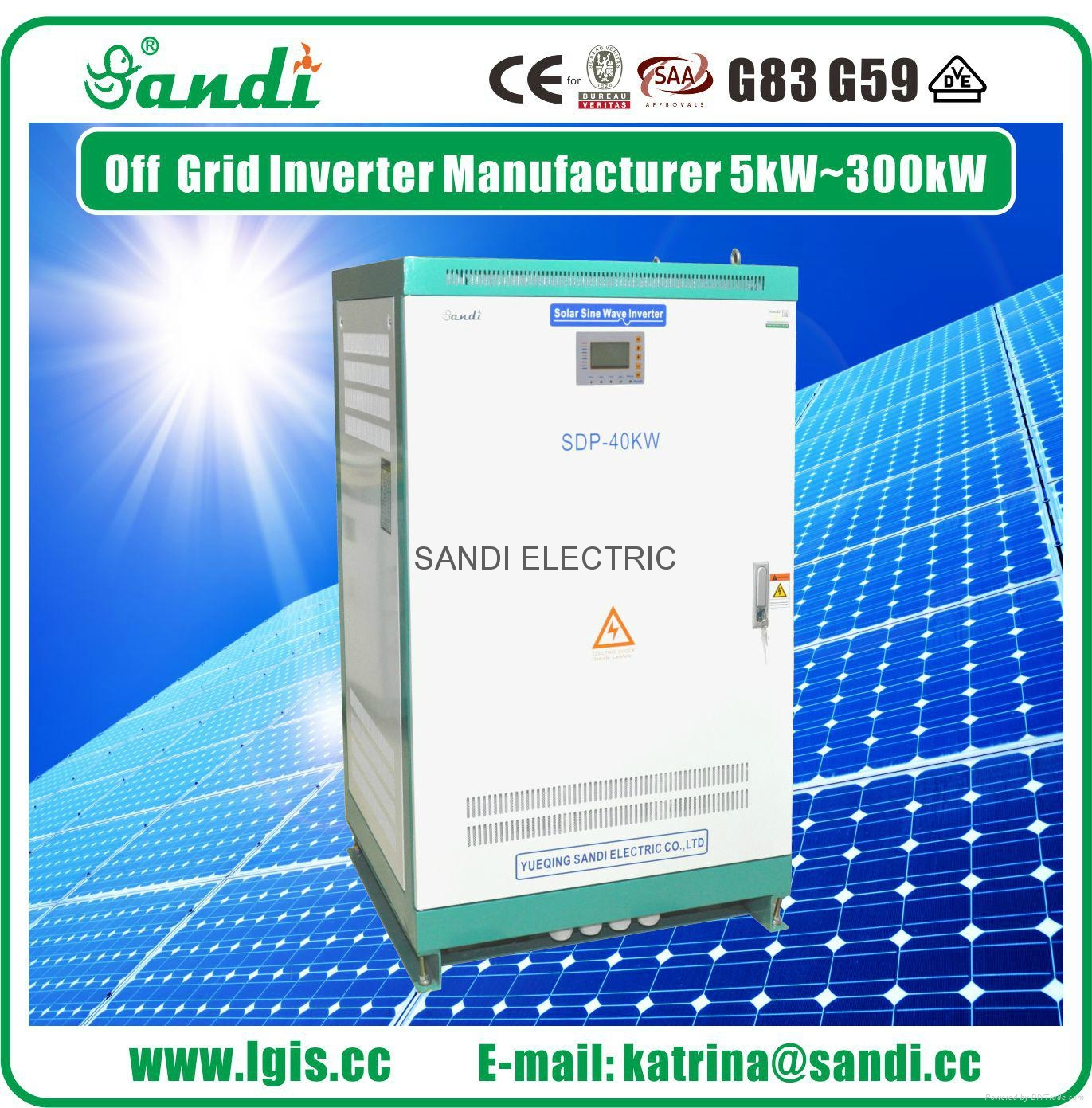 SANDI Power Inverter DC to AC 40KW 3 phase off grid solar inverter