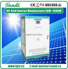 40KW太阳能离网逆变器可带三相电机负载
