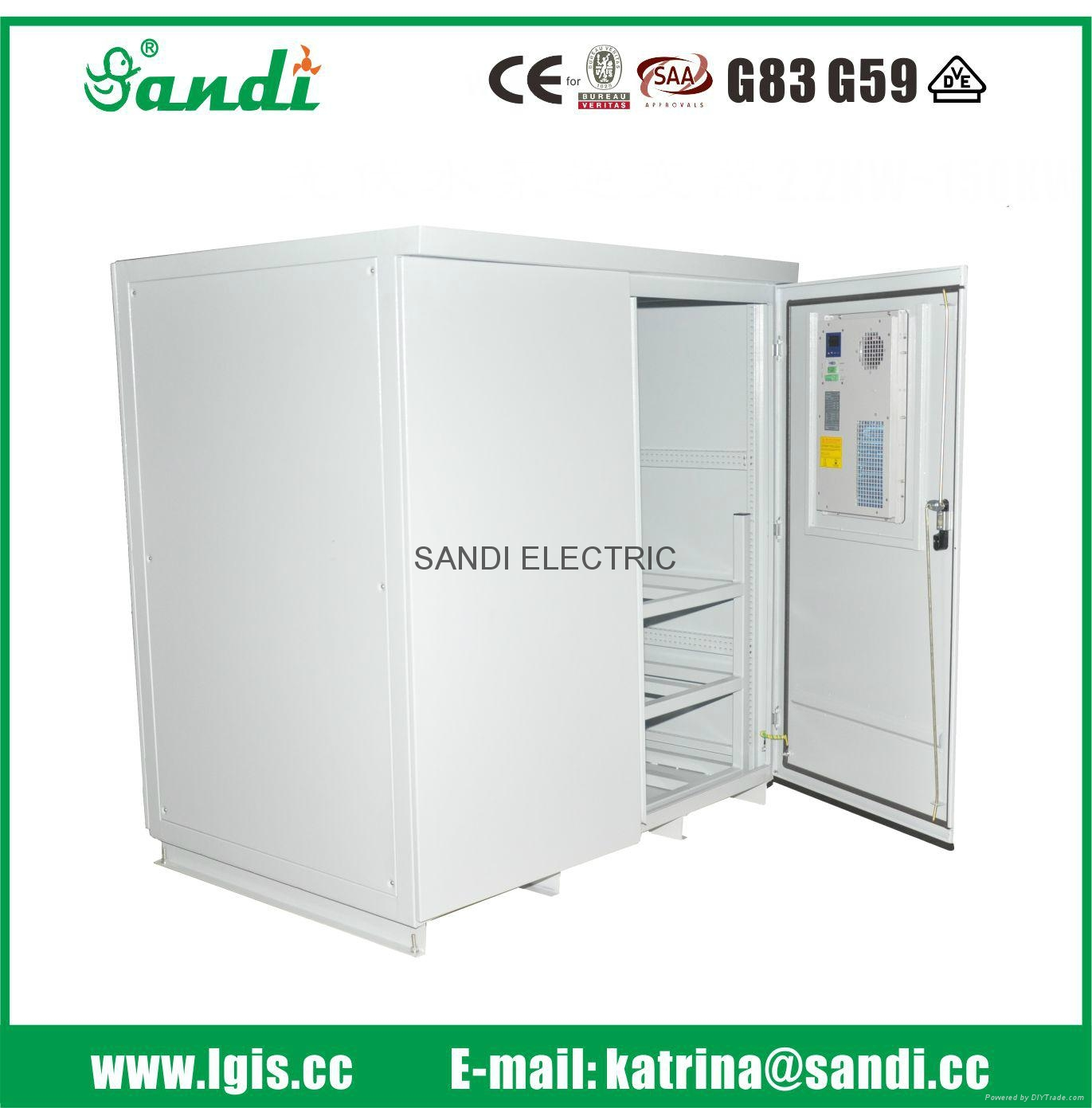Electric control cabinet outdoor battery cabinet with air for Motorized outside air damper