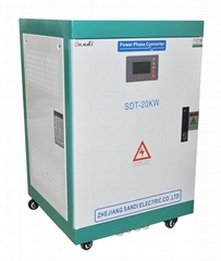 Digital Phase Converter 220VAC single phase to 380VAC three phase 20KW converter