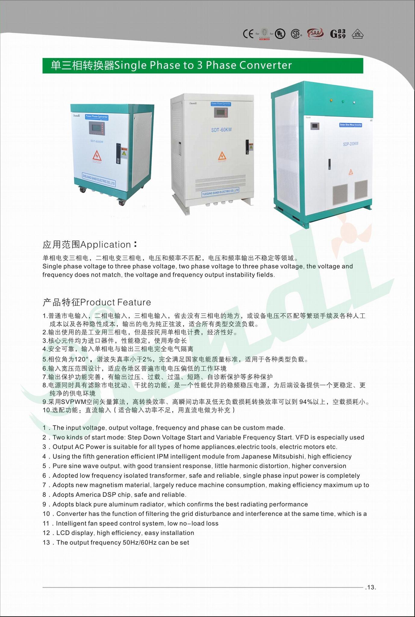static phase converter 120/240VAC split phase to 120/208V 3 phase output