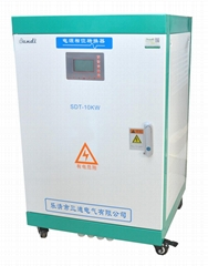 10KW static phase converter 120/240VAC split phase to 220/380V 3 phase output
