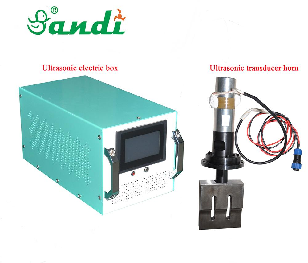 CE approved 20kHz 2000W digital ultrasonic generator transducer horn for lace sewing machine mask welding machine