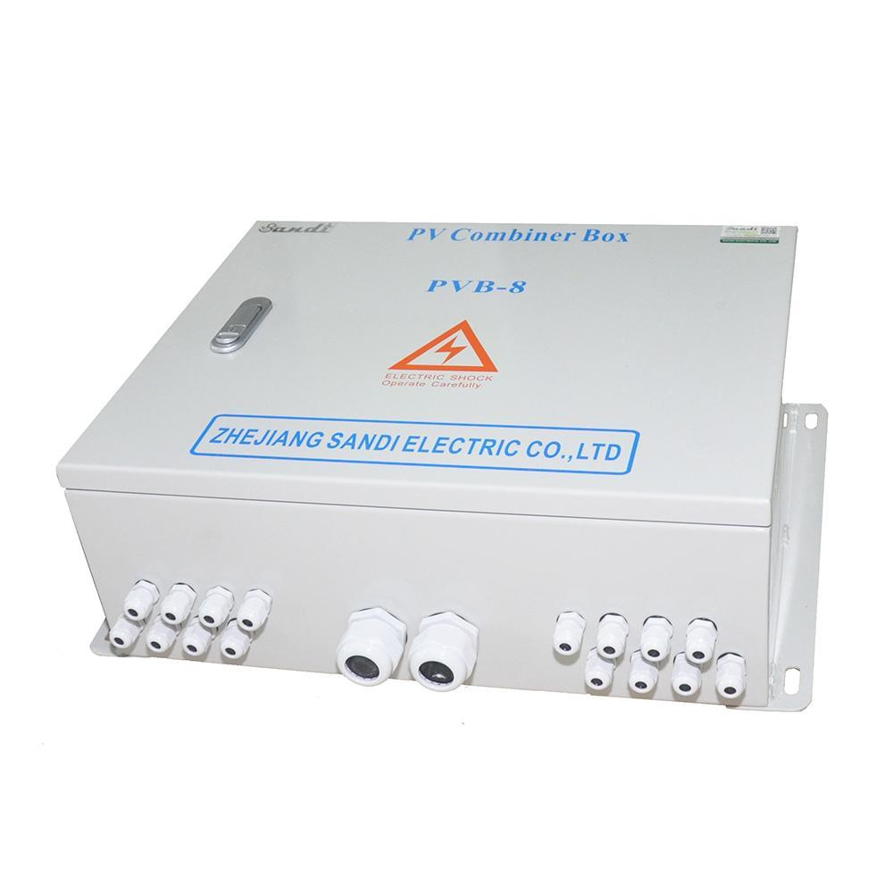 光伏防雷汇流箱用于减少太阳能光伏阵列之间的连线