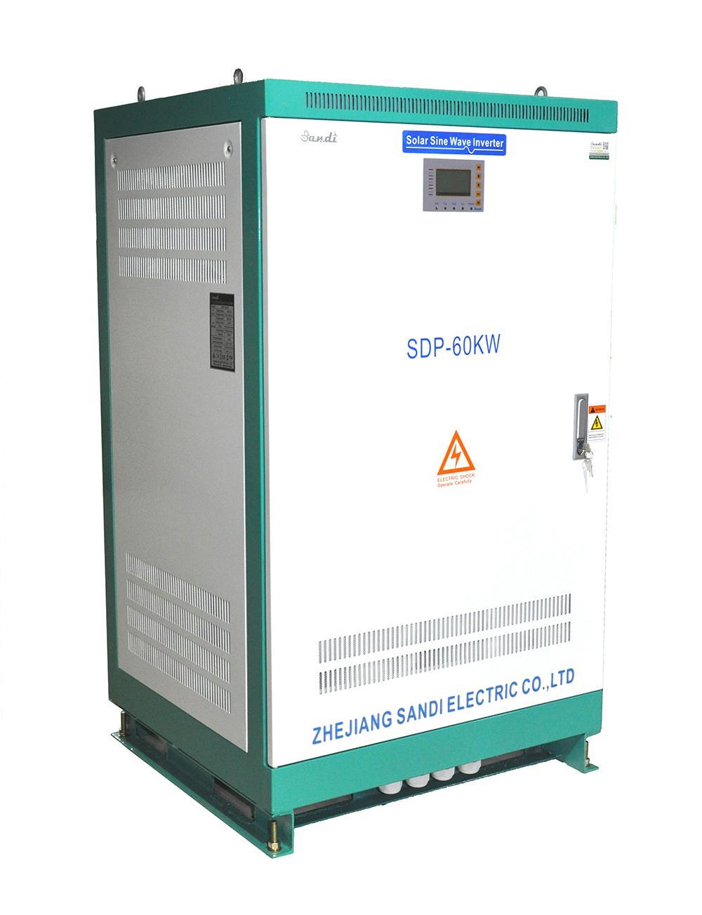 防断电大功率纯正弦波工频逆变器60KW太阳能三相逆变器360V480V农村用电离网逆变器