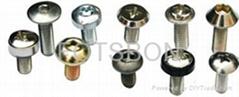 Crown screws knurled screw