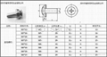 Crown screws standard, crown screw sizes, crown combination screw pictures