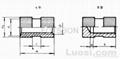 嵌裝圓螺母GB/T809-1988 1