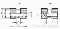 嵌裝圓螺母GB/T809-1988