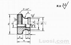 GB/T806-1988滚花高螺母