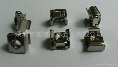 不锈钢 卡式螺母 M4 与皇冠螺钉M4的配合使用