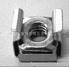 不锈钢 卡式螺母 M6 与皇冠螺钉配合使用,多用于方孔或者导轨