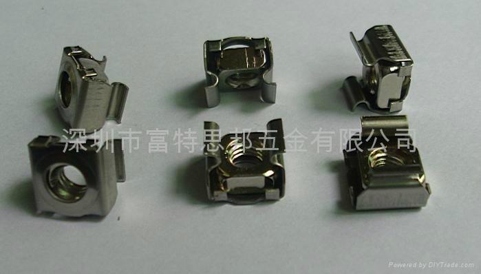 不鏽鋼 卡式螺母 M6 與皇冠螺釘配合使用,多用於方孔或者導軌 2