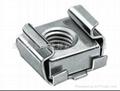 不鏽鋼 卡式螺母 M6 與皇冠螺釘配合使用,多用於方孔或者導軌 3