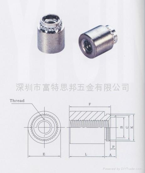 KFB3-440-10 漲鉚擠壓螺母柱   1