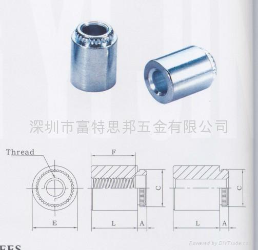 KFE-632-12-ET擠壓螺母柱現貨 1