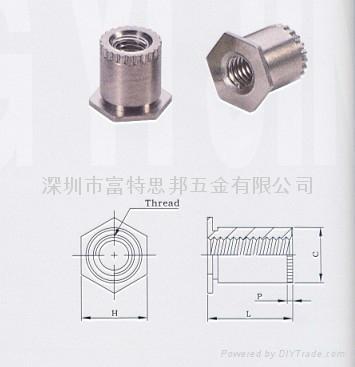 SOSG-3.5M3-10接地壓鉚螺母柱 SOAG  1