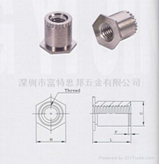 SOSG-3.5M3-10接地壓鉚螺母柱 SOAG
