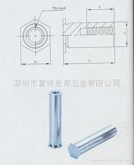 BSO-M2-5盲孔壓鉚螺母柱碳鋼鍍鋅廠家直銷現貨
