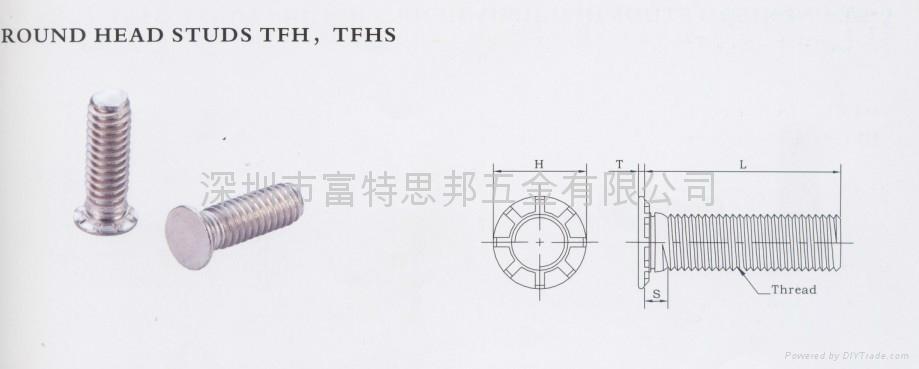 TFH-632-6薄頭壓鉚螺釘TFH TFHS  1