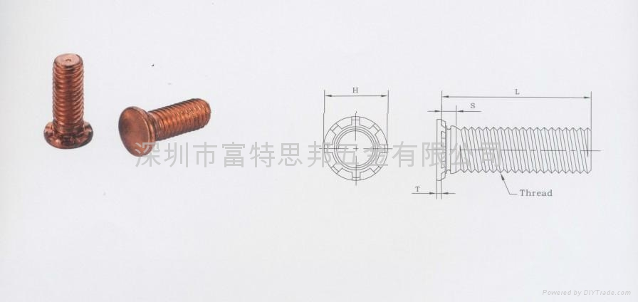 HFHB-0616-16高强度压铆螺钉HFH HFHB HFHS  1