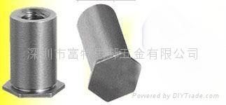 BSOS-M3-10不锈钢盲孔压铆螺母柱 1