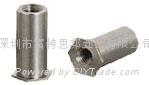SOA-632-10铝压铆螺母柱 ,通孔,英制,铝本色,可以氧化 2