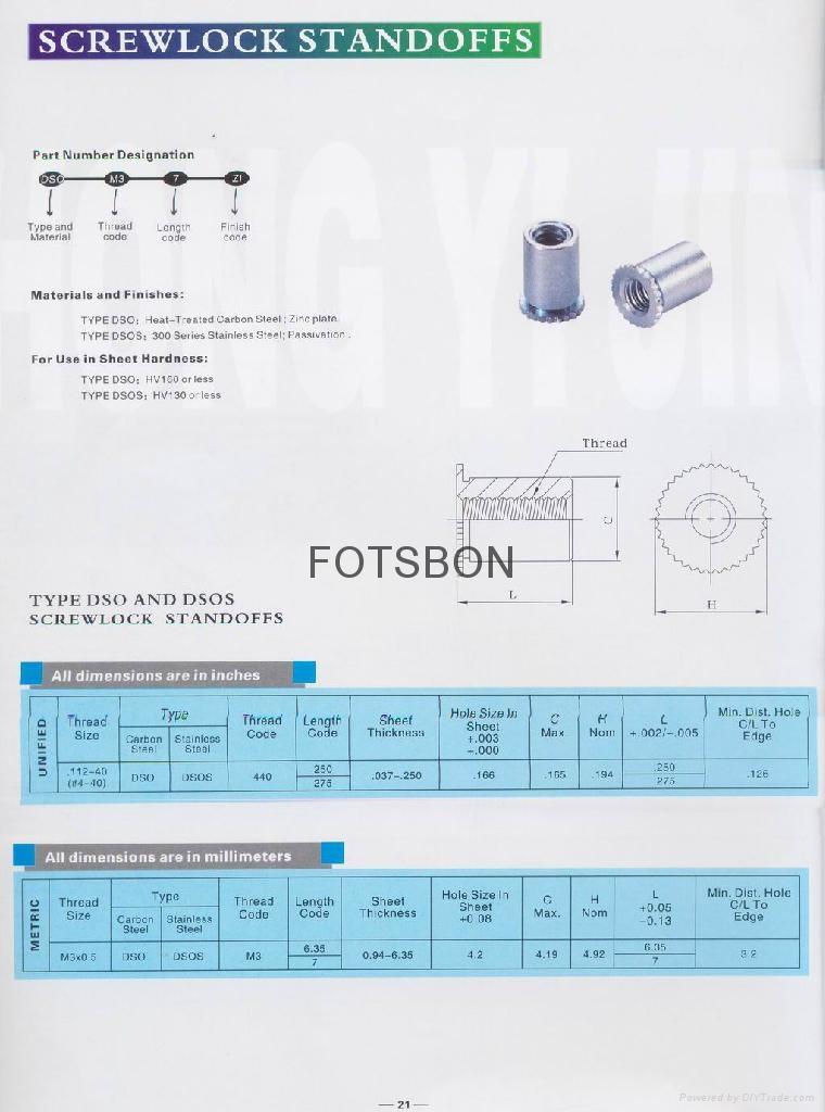 DSOS-440-275壓鉚螺柱  3