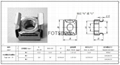 不鏽鋼 卡式螺母 1/4-20 與皇冠螺釘配合使用 3